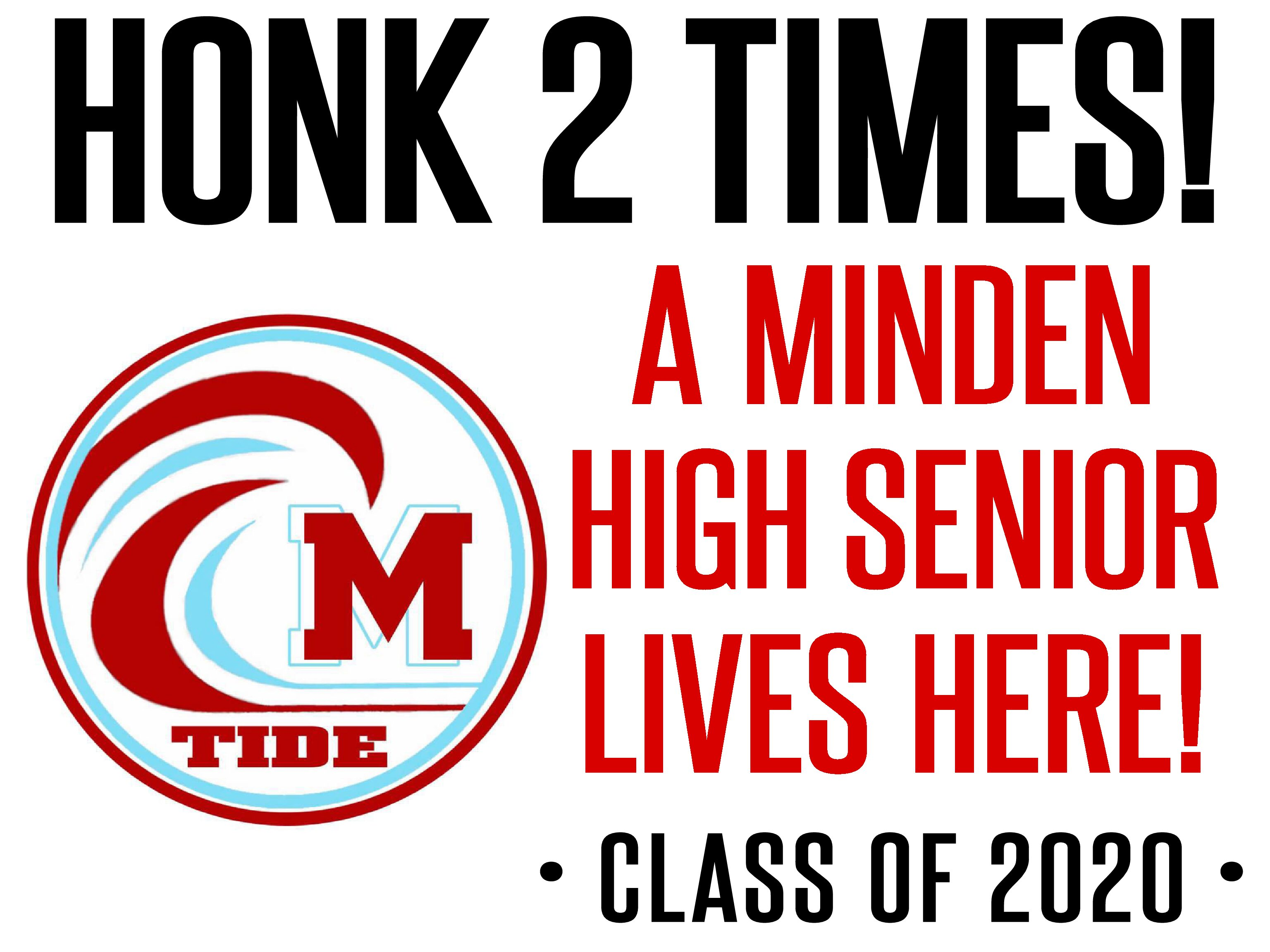 Minden High Senior Yard Signs