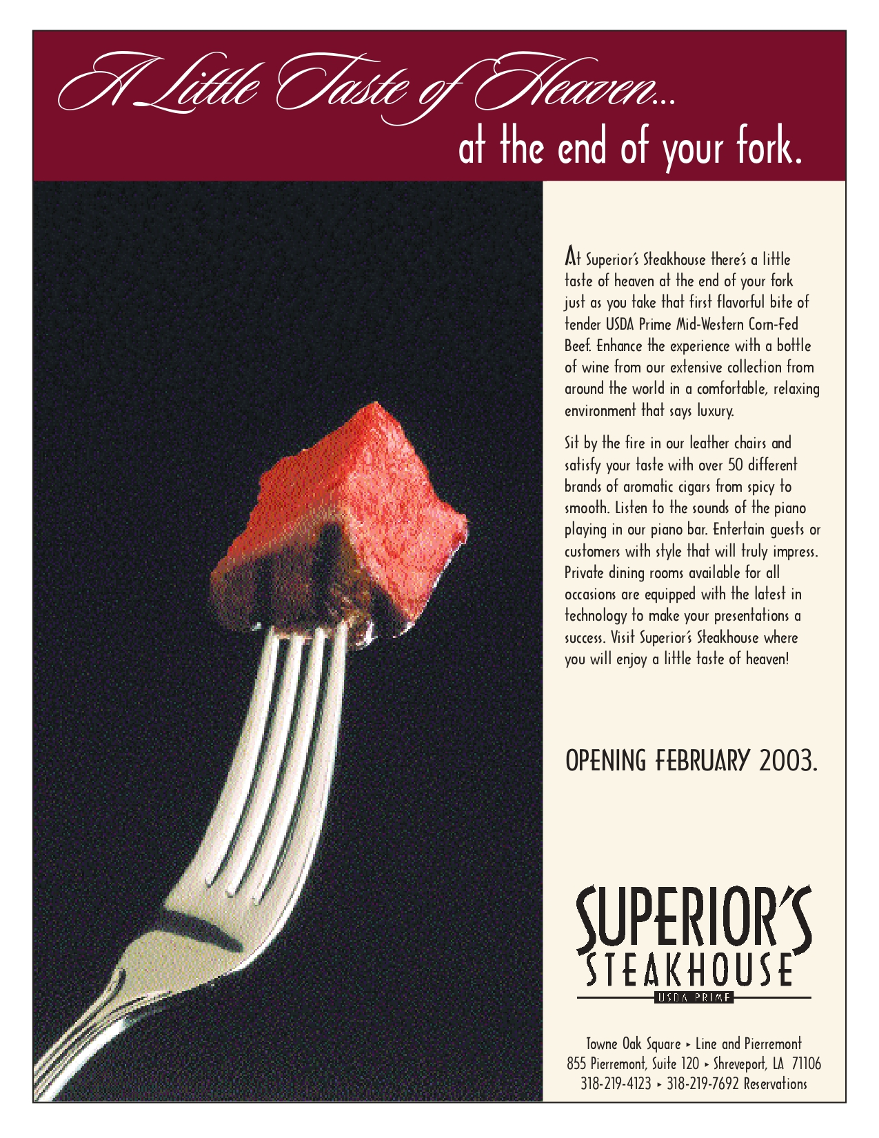 FEB FP SB Taste of Heaven ad FEB FP SB Taste of Heaven  ad page 1