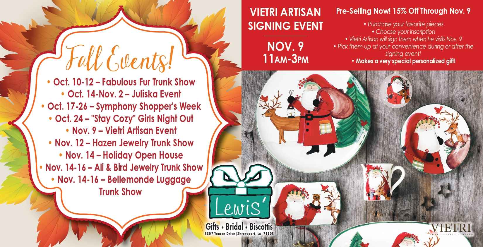 LGIFT Fall Event Direct Mail Page 1