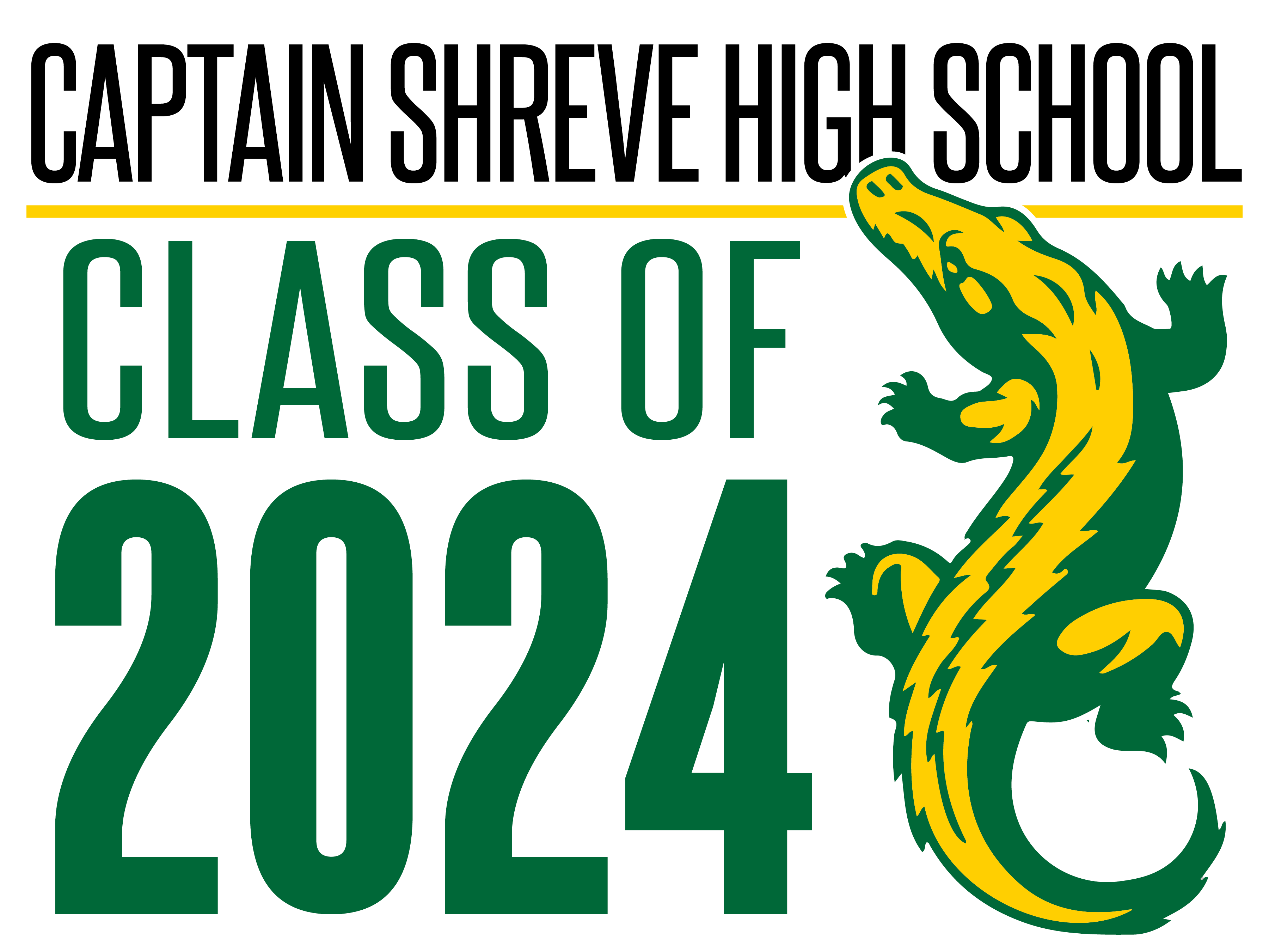 Captain Shreve Class of 2024 Yard Signs
