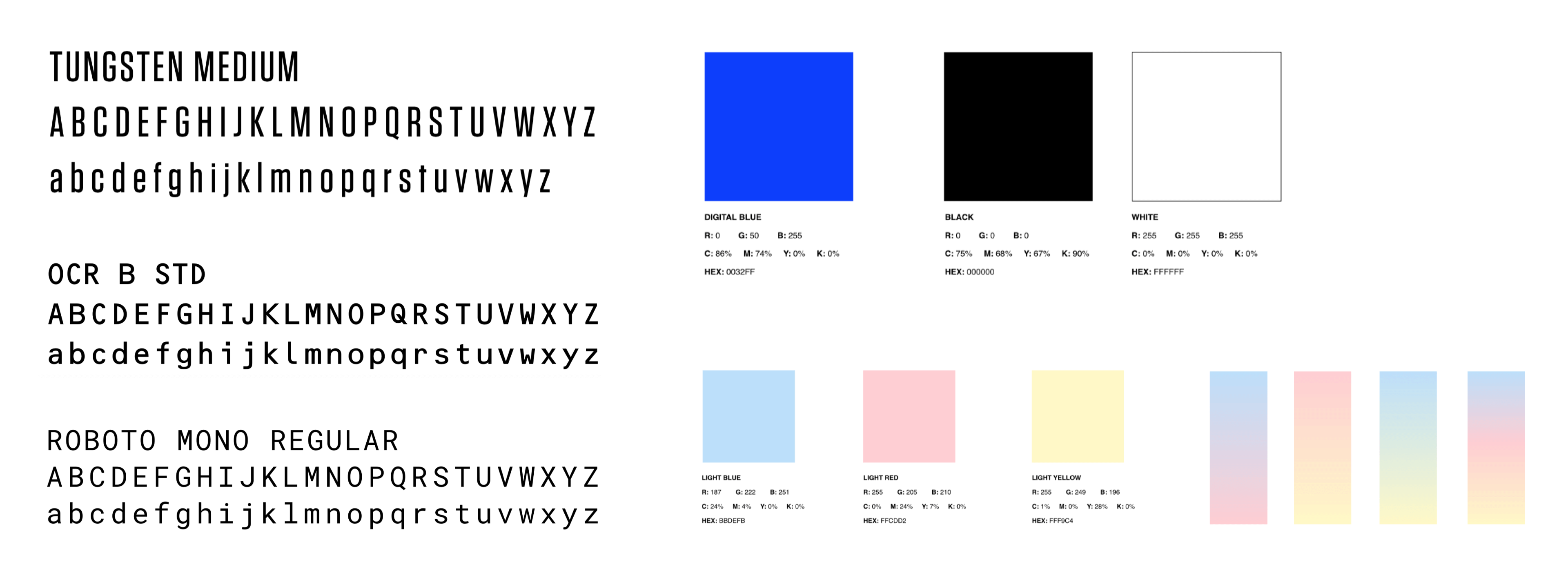 RCMA Typography & Color