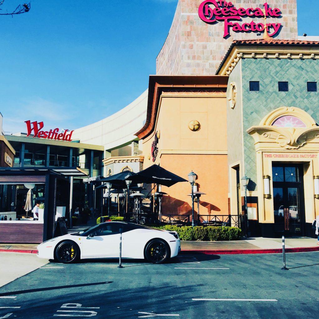 restaurant valet parking at Westfield mall