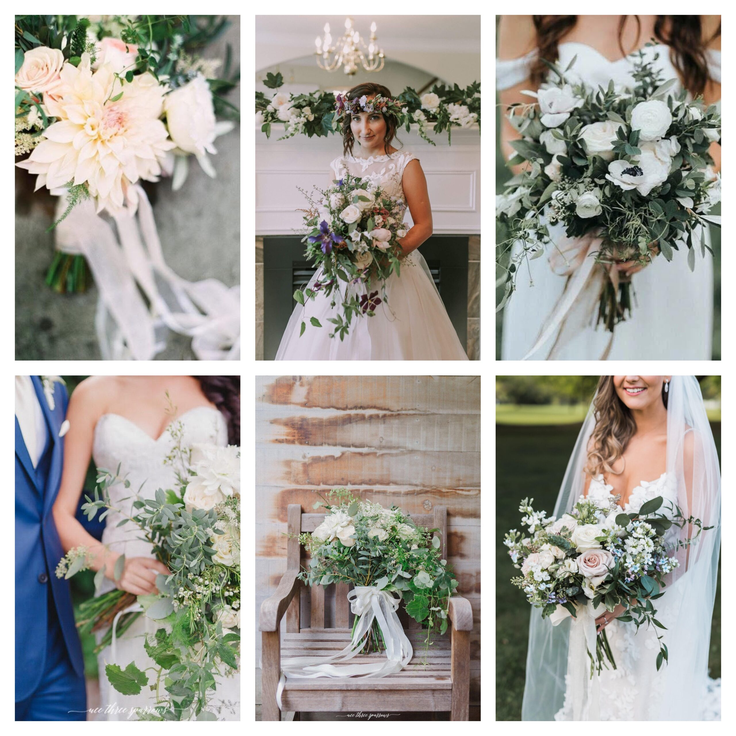 variety of beautiful bouquets