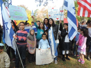 A community rallies in support of Israel © 2015 Karen Rubin/news-photos-features.com