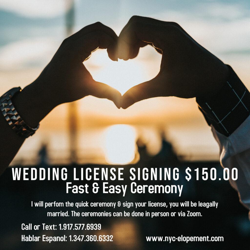 Wedding Simple Signing Ceremony