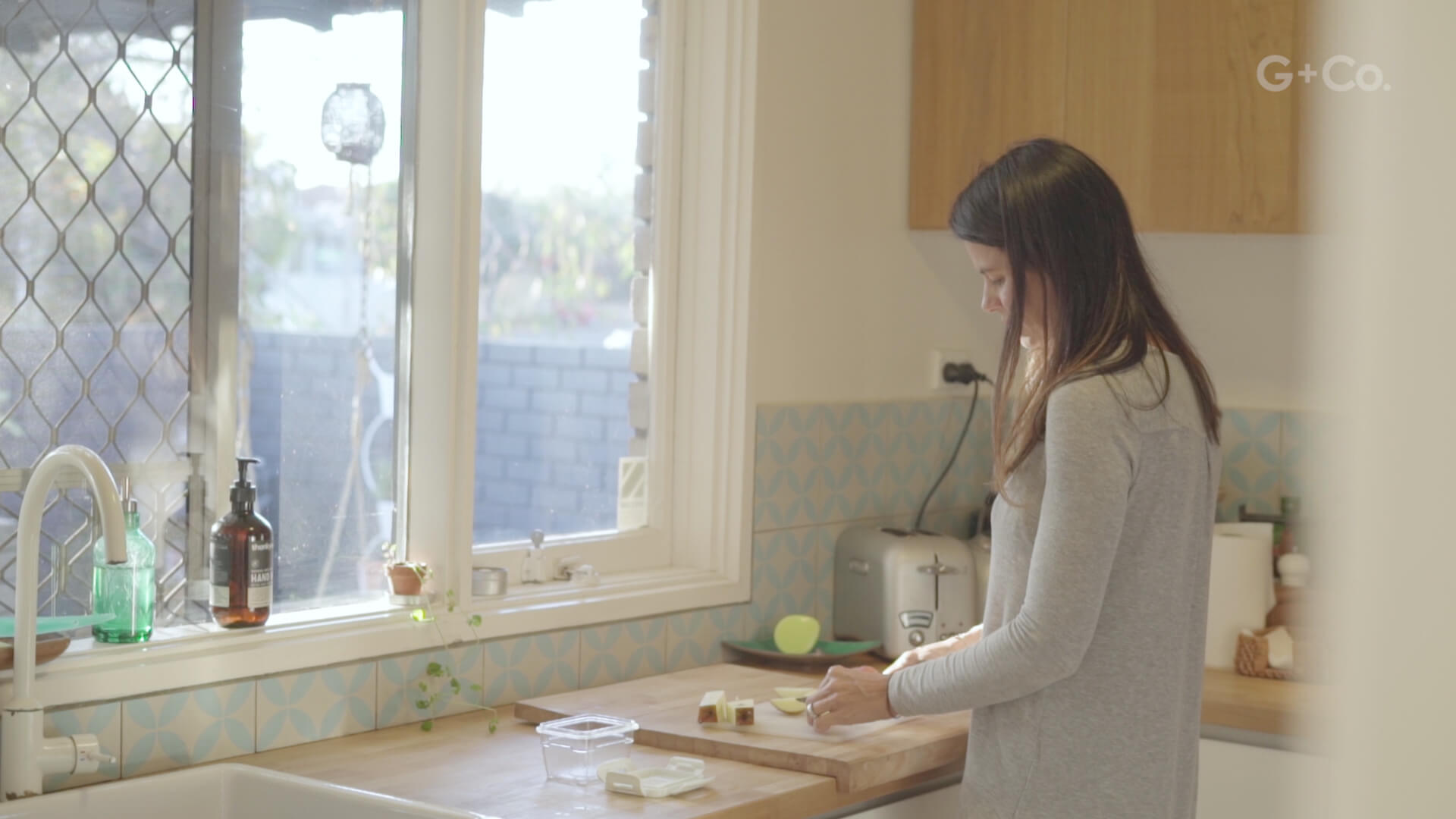 still frame from creative documentary film: mum cooking