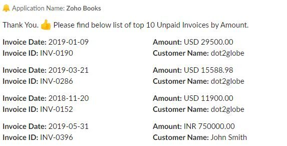 View Unpaid Invoices using incoxBot