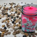 Candle Sand in glass jars