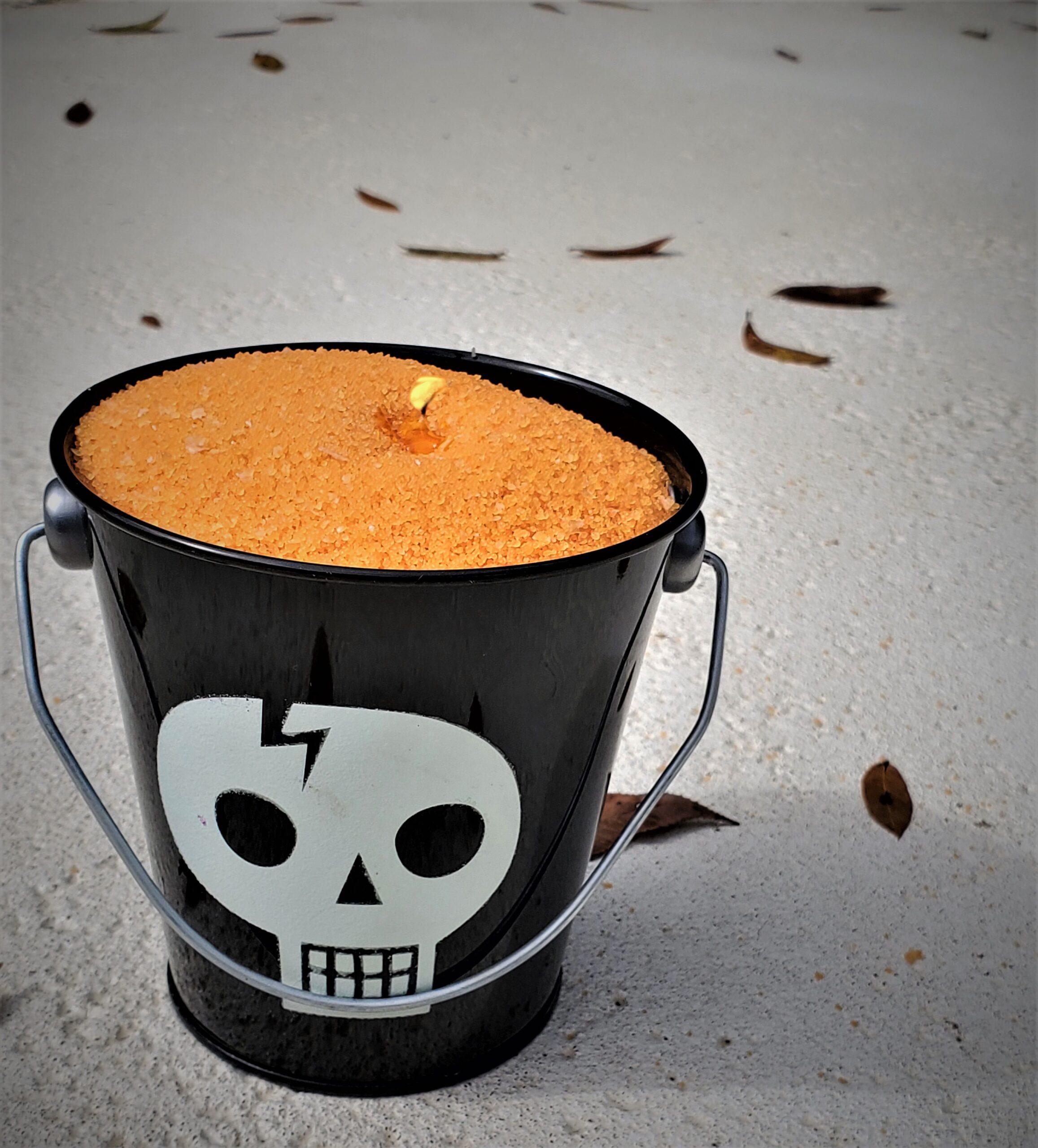 Candle Sand wax orange