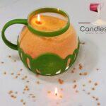 Candle sand wax