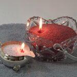 Glass Basket Candle