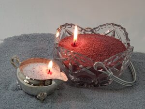 Glass Basket Candle