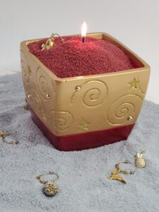 Gold and Red Christmas Candle