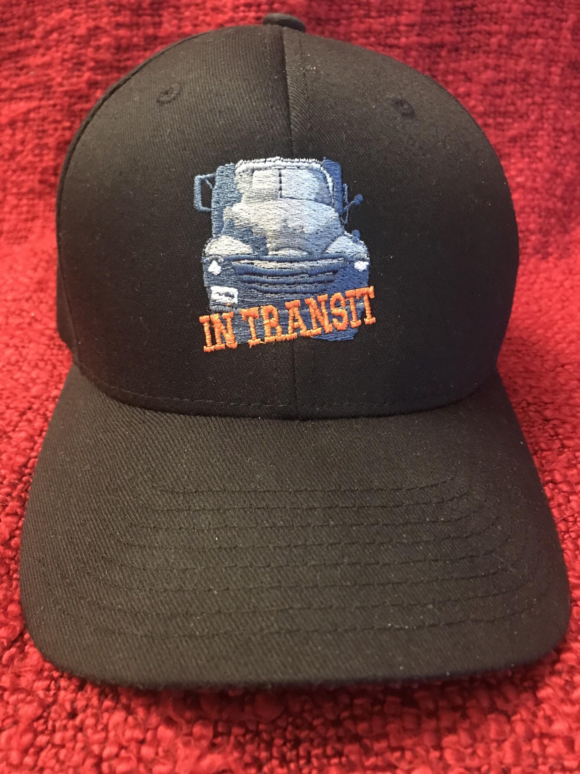 In Transit Logo on Black Hat