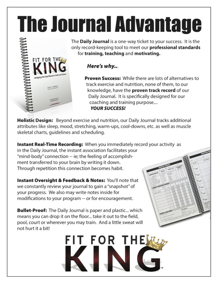 Fit for the King Journal Benefits