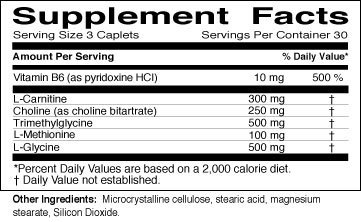 Lipotropic Plus Supplement Nutrition Facts