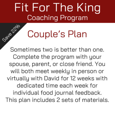 Fit For The King Coaching Program - Couple's Plan