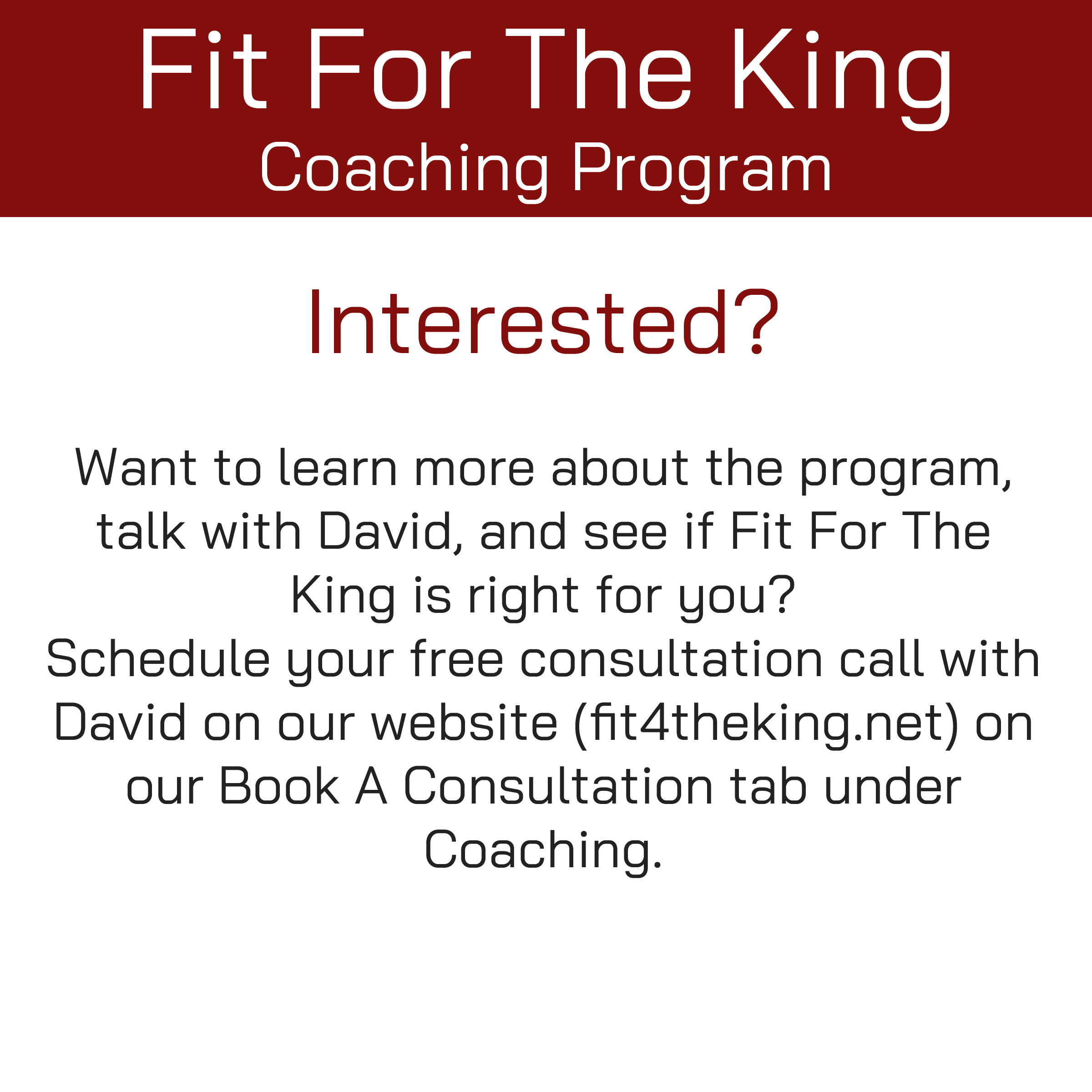 FFTK Coaching Program