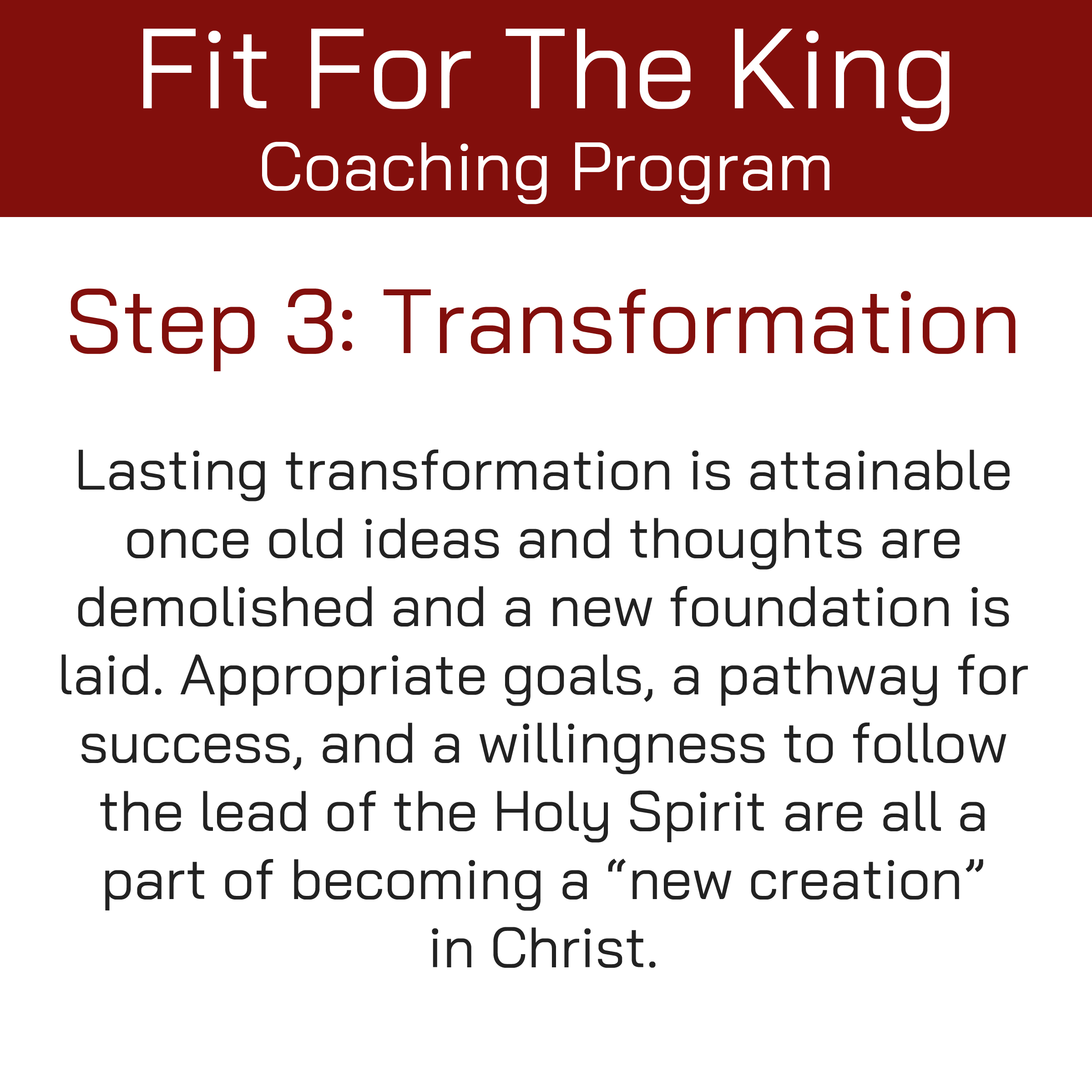 FFTK Coaching Program - Transformation