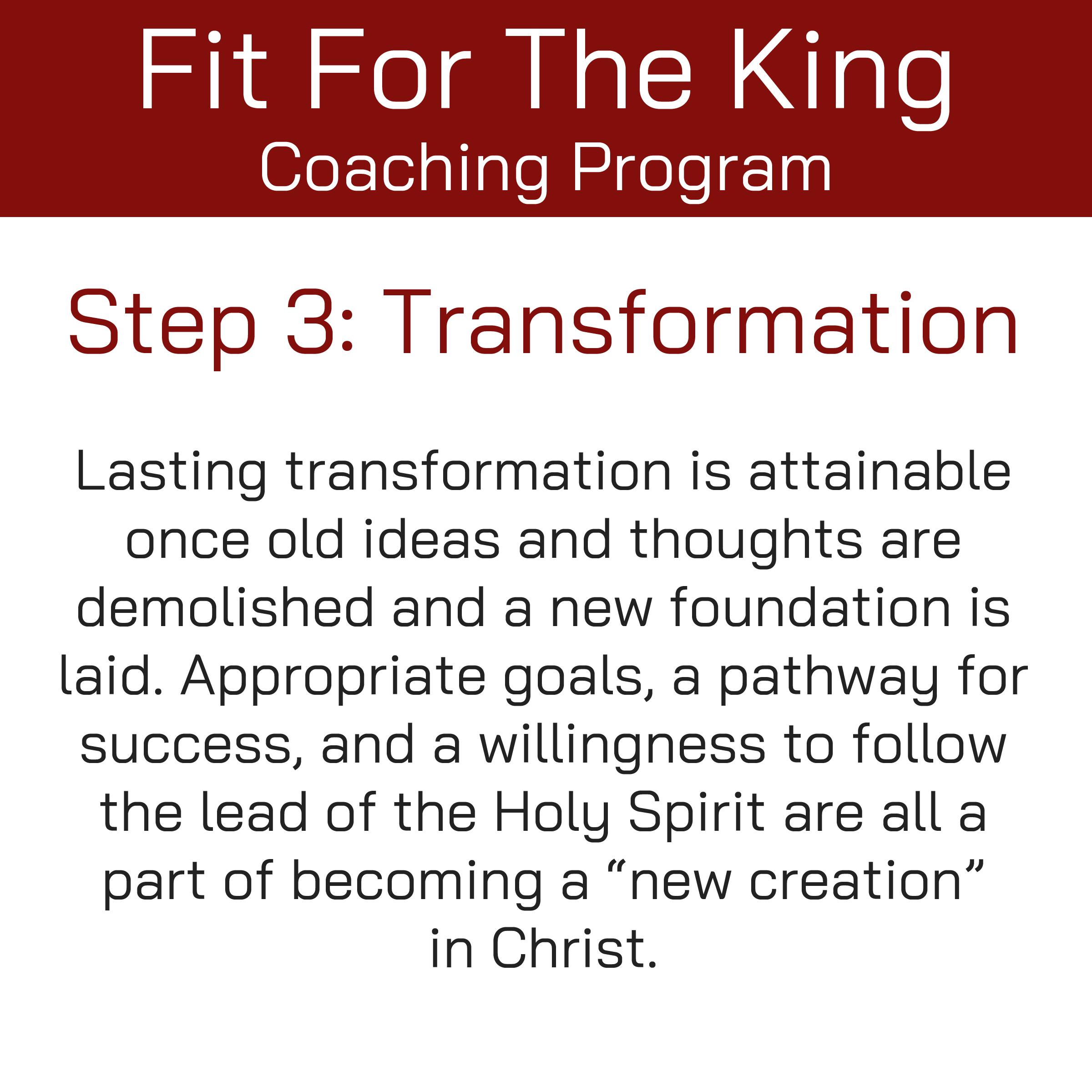 FFTK Coaching Program - Transformation