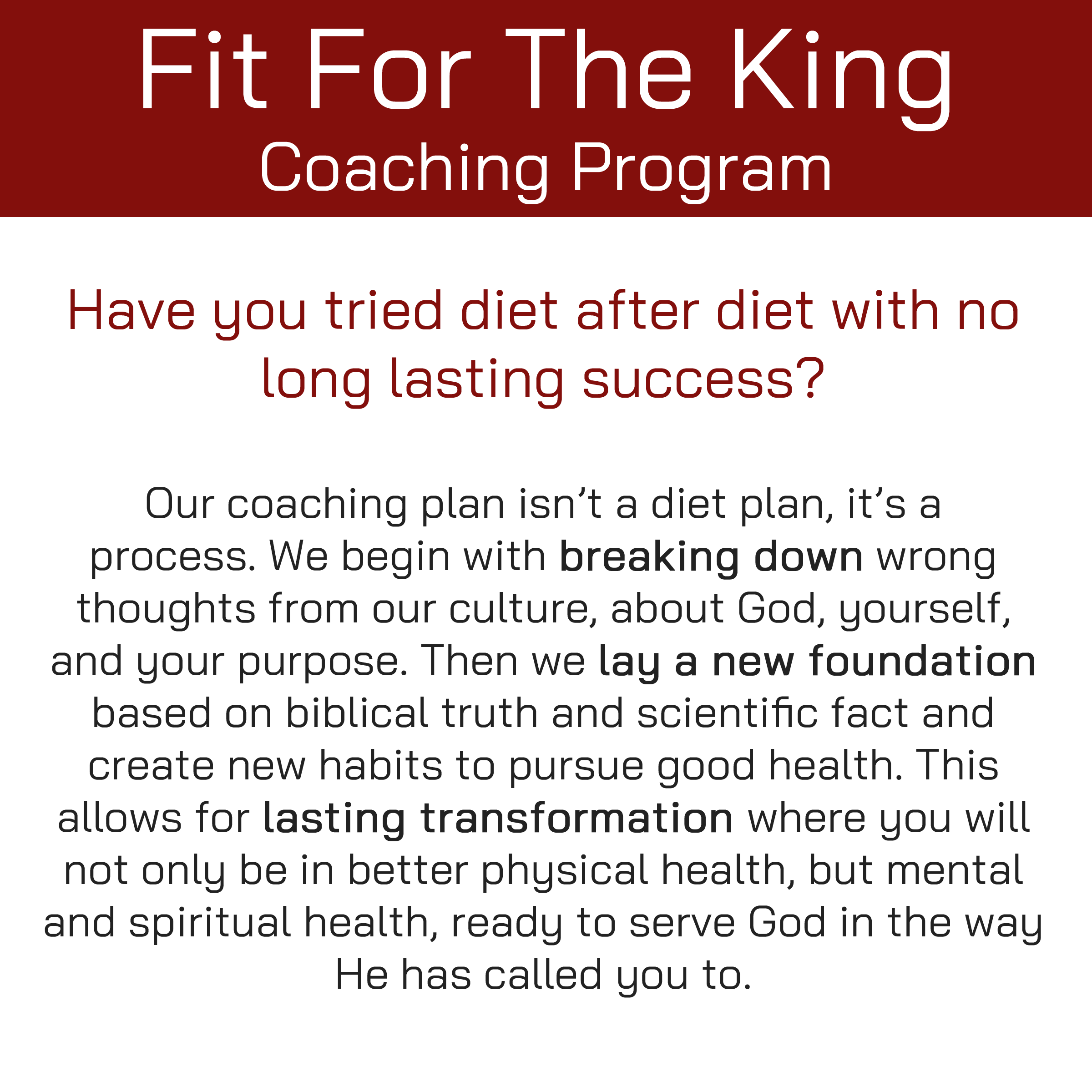 FFTK Coaching Program Intro