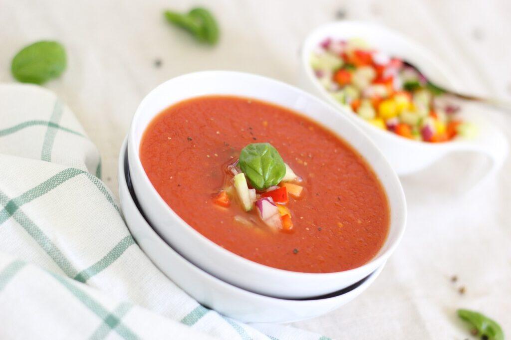 Dogs eat Tomato Soup