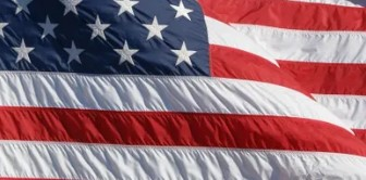 Center of an American Flag