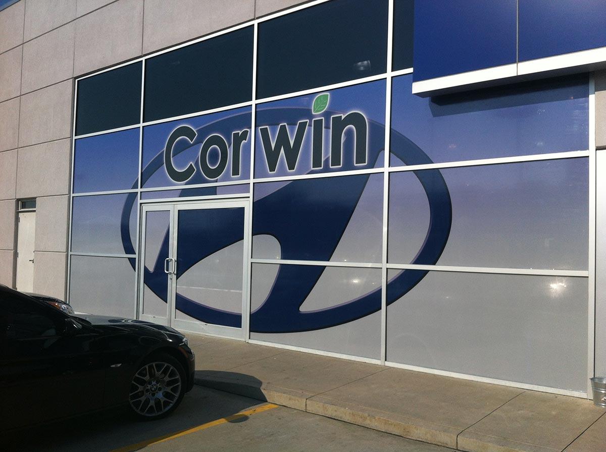 Corwin Store front wrap