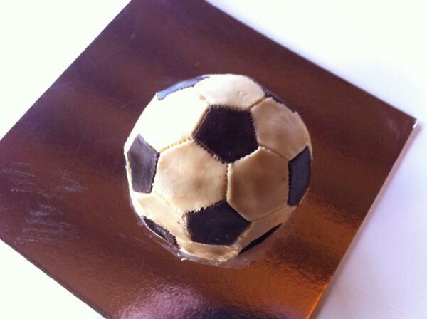 3D soccer ball cake.meat