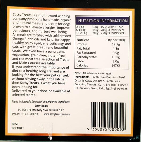 nutritional info cossie