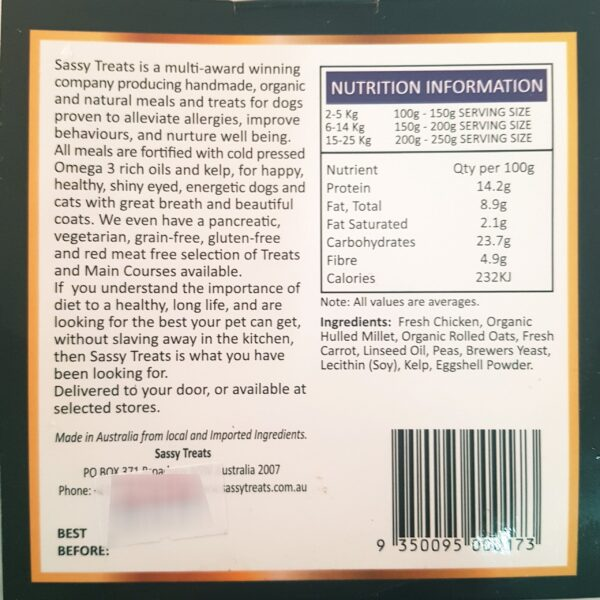 Nutritional information for Moroccan Chicken