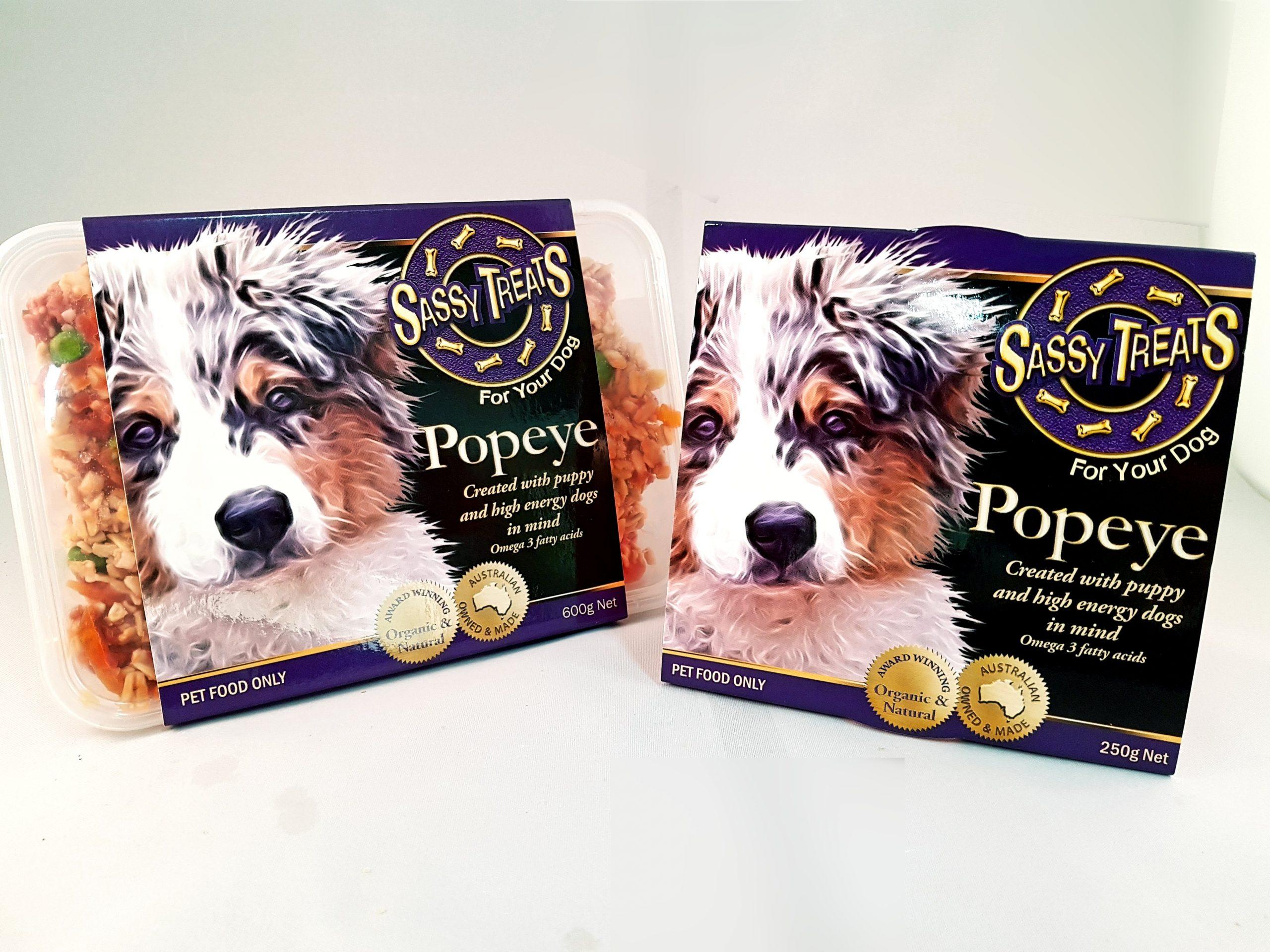 packaging shot Popeye Main Course