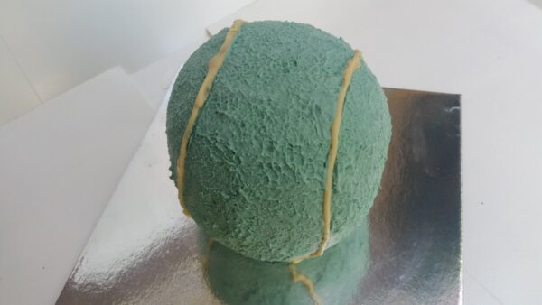 3D tennis ball cake. meat.