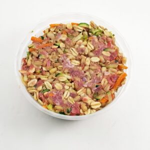 chicken and oats and barley high calorie raw dog food