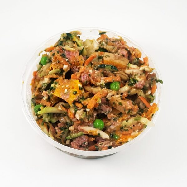 Chicken and veggie grain free raw dog food
