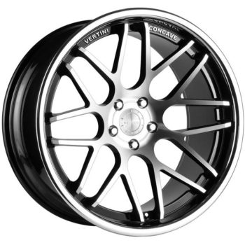 Vertini Magic Concave Machined with Black Windows and Stainless Steel Lip