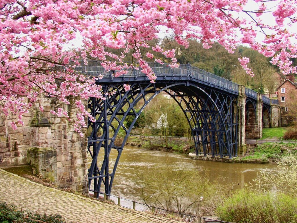 Cool bridge with river