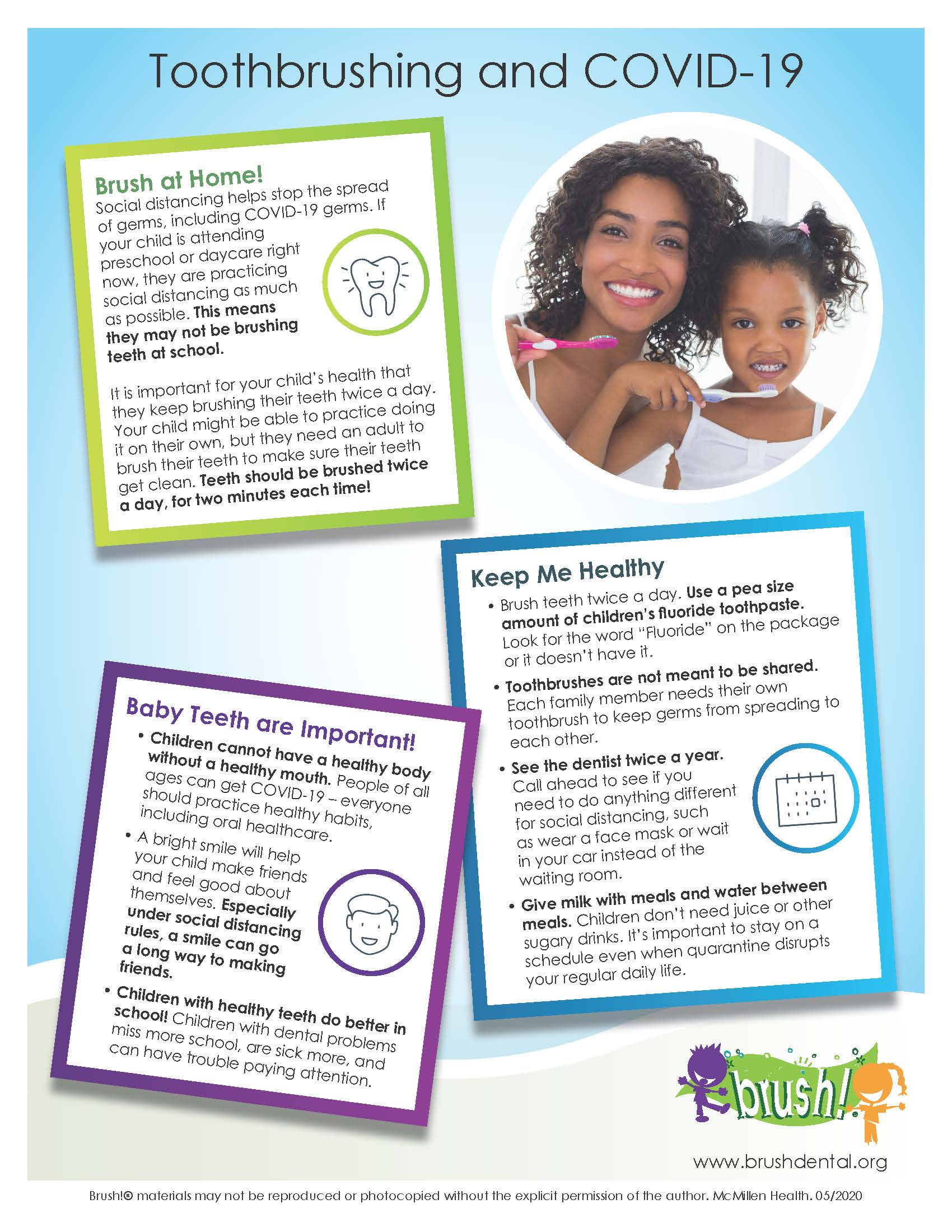 Head Start Toothbrushing and COVID-19 Parent Handout