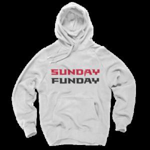 Atlanta Falcons Hoodie - Sunday Funday White Hoodie