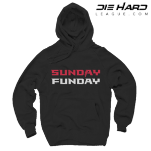 Atlanta Falcons Hoodies - Sunday Funday Black Hoodie