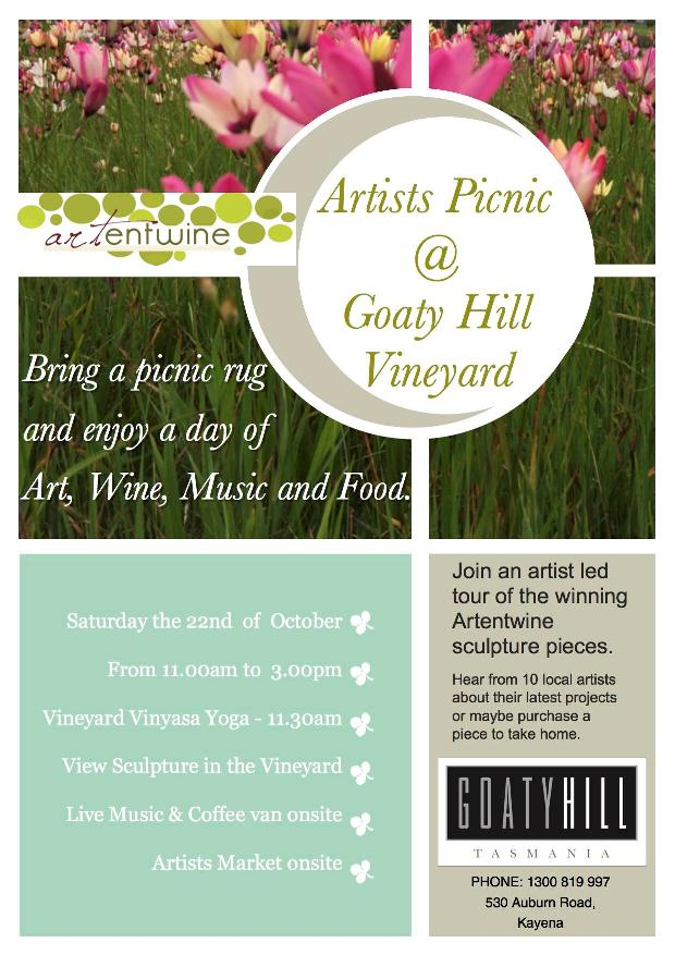 Goaty Hill Wines : Artist's Market & Picnic Saturday 22 October 2016