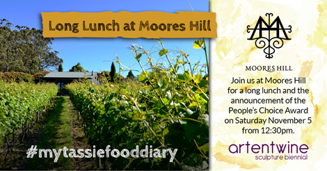 Long Lunch at Moores Hill Estate with announcement of the Artentwine Sculpture People's Choice Award Winner: Saturday 5 November 2016