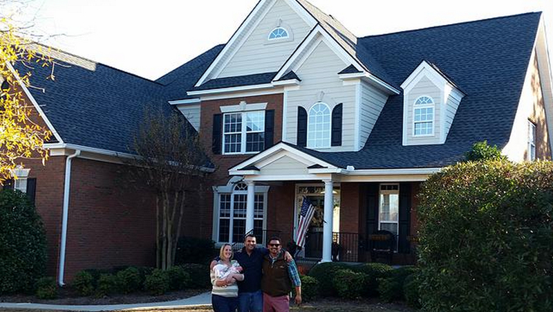Columbia SC Home With People In Front