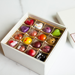 16 piece milk and dark chocolate bonbons