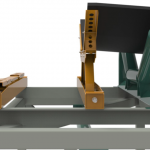 Roller Troughing Jack side view