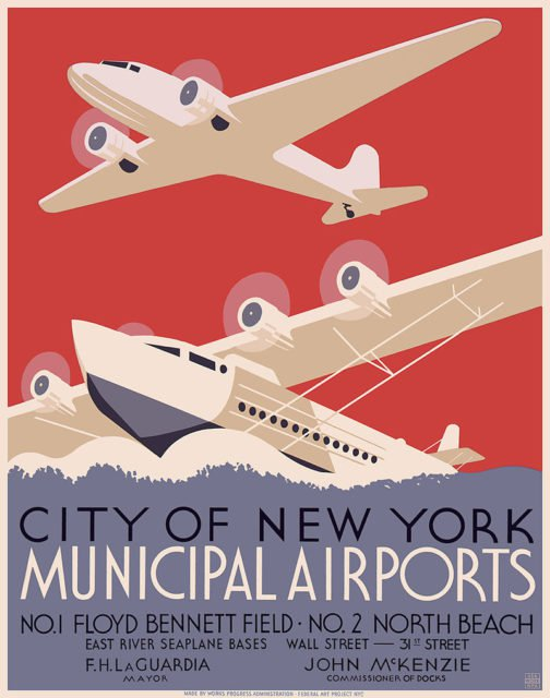Abandoned New York's first municipal airport