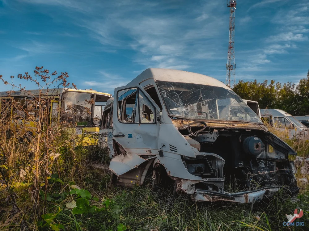 Mostransavto rusty buses and minibusses in the Moscow region