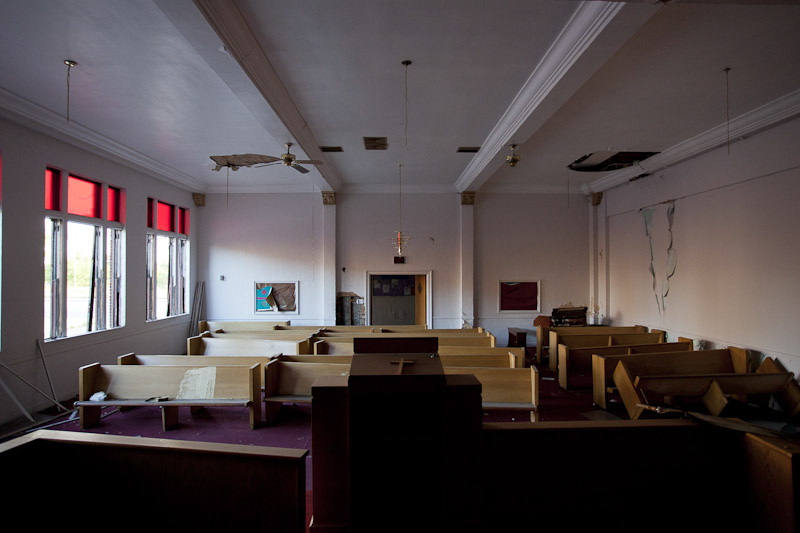 Demolished Word and Faith Christian Center in Detroit