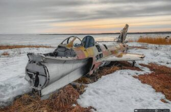 The wreckage of two abandoned Soviet Mig-21 aircraft