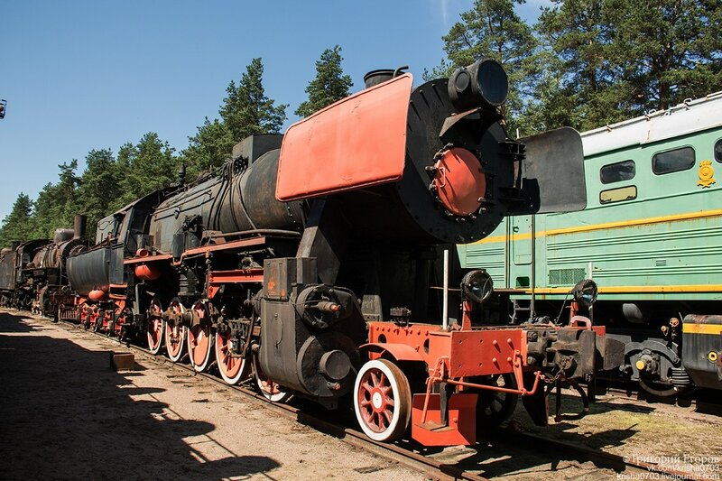 Abandoned steam locomotives are in more or less decent external condition.